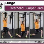 Overhead Bumper Plate Lunge