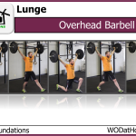 Overhead Barbell Lunge